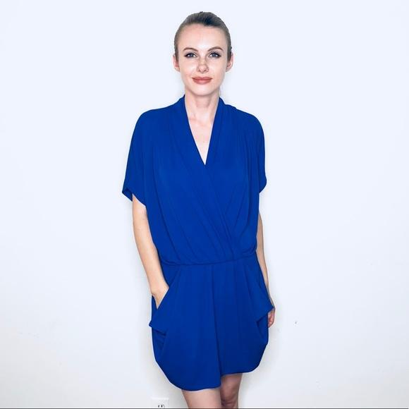 4167c954cbe4 RACHEL BY RACHEL ROY BRIGHT ROYAL BLUE DRAPE DRESS